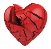 Coeur cassé d'isolement Photos libres de droits
