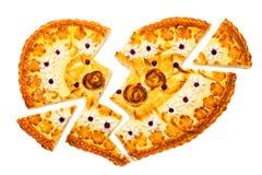 Coeur cassé de boulangerie image stock