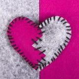Coeur cassé de feutre Photo libre de droits