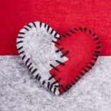 Coeur cassé de feutre Photos libres de droits