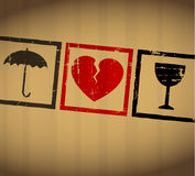 Coeur cassé de Valentine de vecteur illustration de vecteur