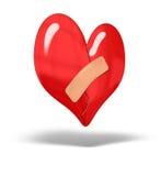 Coeur cassé réparé Photographie stock