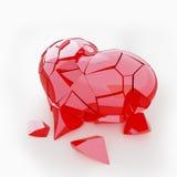 Coeur cassé rouge Photographie stock