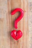 Coeur cassé rouge Images libres de droits