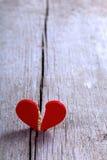 Coeur cassé rouge Image stock