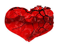Coeur cassé - amour non récompensé, douleur Image libre de droits