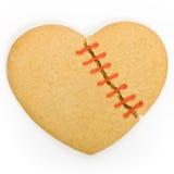 coeur cassé de biscuit Photographie stock libre de droits