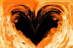 Coeur chaud du feu illustration libre de droits
