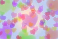 Coeur coloré abstrait d'isolement sur le fond blanc Photos libres de droits
