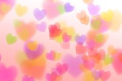 Coeur coloré abstrait d'isolement sur le fond blanc Photos stock