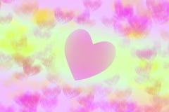 Coeur coloré abstrait d'isolement sur le fond blanc Photographie stock