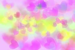 Coeur coloré abstrait d'isolement sur le fond blanc Images libres de droits