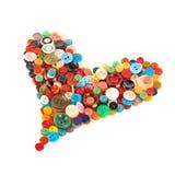 Coeur coloré de boutons Images stock
