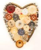 Coeur coloré de boutons en fonction Photo libre de droits