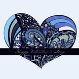 Coeur coloré de valentine Illustration Libre de Droits