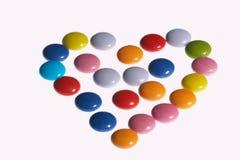 Coeur coloré - faerbiges Herz Photos libres de droits