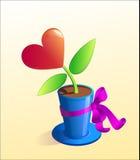 Coeur comme présent illustration libre de droits