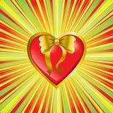 Coeur comme présent Photographie stock libre de droits