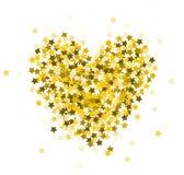 Coeur composé d'étincelles Photo stock