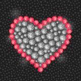 Coeur composé de Diamond Gem Stones Images stock
