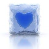 Coeur congelé bleu Photos libres de droits