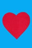 Coeur coupé du papier au tissu Photo libre de droits