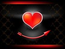 coeur courbé de flèche d'amur beau dessous Photo libre de droits