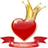 Coeur couronné Image stock