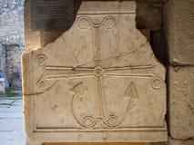 Coeur, croix et ancre Image stock