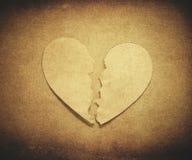 Coeur déchiré Image libre de droits
