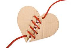 Coeur déchiré de carton Photos libres de droits