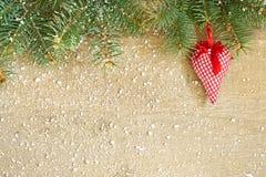 Coeur décoratif de Noël Photographie stock libre de droits