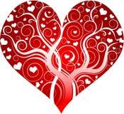 Coeur décoratif rouge Illustration Stock
