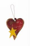 Coeur - décoration de Noël Photo stock