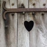 Coeur découpé en bois Image libre de droits