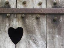 Coeur découpé en bois Photographie stock libre de droits