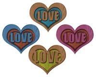 Coeur découpé en bois Images libres de droits