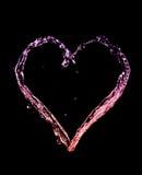 Coeur d'éclaboussure Photos libres de droits