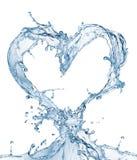 Coeur d'éclaboussure de l'eau avec des bulles Photo libre de droits