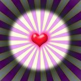 Coeur d'éclat Photo stock