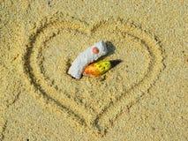 Coeur d'îles des Maldives : Amour pour toujours Images stock