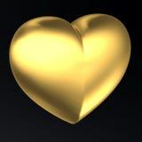 Coeur d'or illustration de vecteur