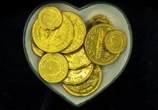 Coeur d'or Photos libres de droits