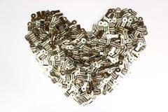 Coeur d'agrafe Photos libres de droits