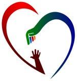 Coeur d'aide Photo libre de droits