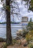 Coeur d'Alene湖和度假区 免版税库存照片