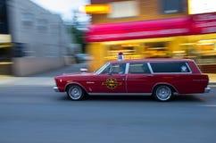 COEUR D ALENE,爱达荷6/14/2014 :汽车d Alene 2014年城市宽车展; 库存图片