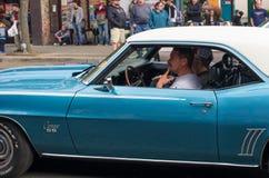 COEUR D ALENE, АЙДАХО 6/14/2014: D Alene автомобиля 2014 выставка автомобиля города широкая; Стоковая Фотография RF