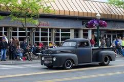 COEUR D ALENE, АЙДАХО 6/14/2014: D Alene автомобиля 2014 выставка автомобиля города широкая; Стоковое Изображение RF