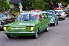 COEUR D ALENE, АЙДАХО 6/14/2014: D Alene автомобиля 2014 выставка автомобиля города широкая; Стоковое Фото